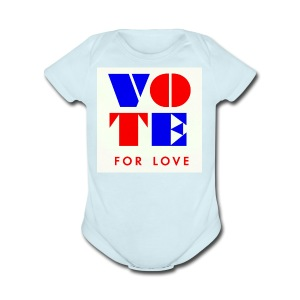 vote4love-sample - Short Sleeve Baby Bodysuit