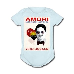 Amori for Mayor of Los Angeles eco friendly shirt - Short Sleeve Baby Bodysuit