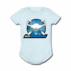 Go Yakking Blue - Short Sleeve Baby Bodysuit