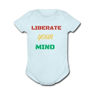 Liberate your mind clothing - Short Sleeve Baby Bodysuit