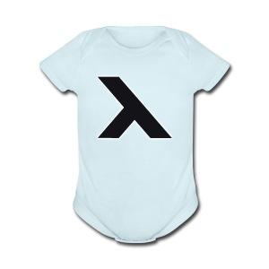 Vixton X Logo - Short Sleeve Baby Bodysuit