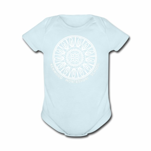 KenwoodLogo (White) - Organic Short Sleeve Baby Bodysuit