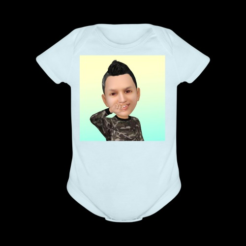 Cartoon - Organic Short Sleeve Baby Bodysuit