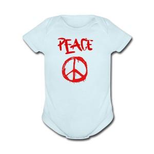 Peace1 - Short Sleeve Baby Bodysuit