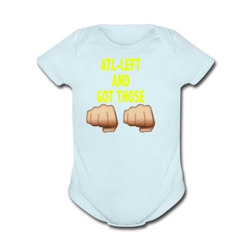 AltLeft Got Those Hands - Organic Short Sleeve Baby Bodysuit