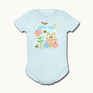 NATURE ROCKS CHILDREN Carolyn Sandstrom THR - Short Sleeve Baby Bodysuit