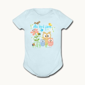 NATURE - Ellis Bird Farm - Carolyn Sandstrom - Short Sleeve Baby Bodysuit