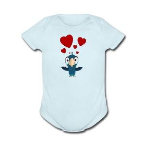 birdie - Short Sleeve Baby Bodysuit