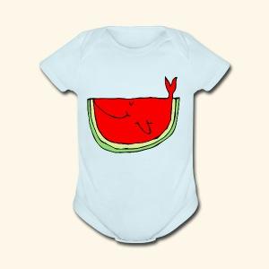 Whalemelon - Short Sleeve Baby Bodysuit