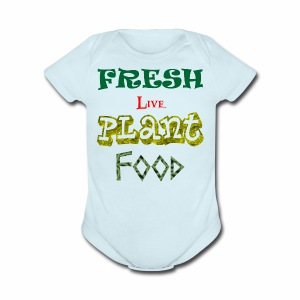 Fresh Live Plant Food - Short Sleeve Baby Bodysuit