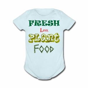 Fresh Live Plant Food - Short Sleeve Baby Bodysuit