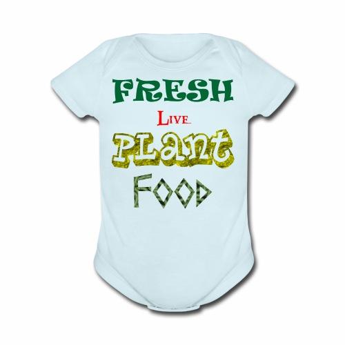 Fresh Live Plant Food - Organic Short Sleeve Baby Bodysuit