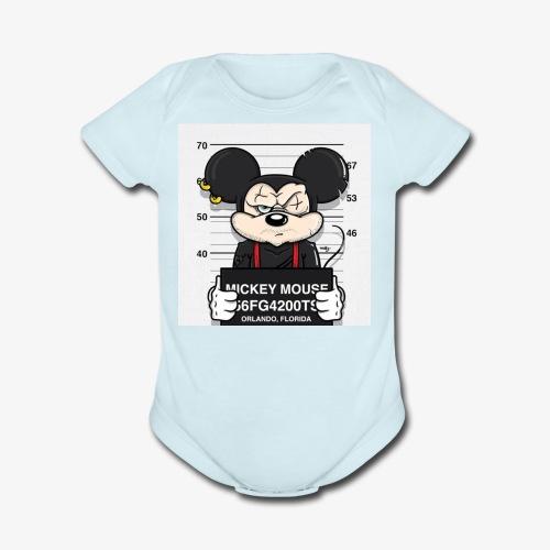 mickey - Organic Short Sleeve Baby Bodysuit