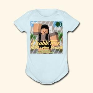 DoubleTrees Offical Logo - Short Sleeve Baby Bodysuit