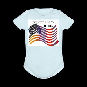 retired Military Dependents - Short Sleeve Baby Bodysuit