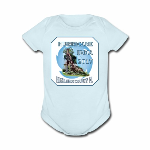 HIGHLANDS COUNTY FL HURRICANE IRMA - Organic Short Sleeve Baby Bodysuit
