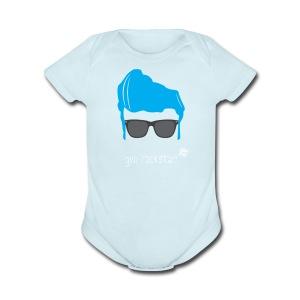 Geo Rockstar (him) - Short Sleeve Baby Bodysuit