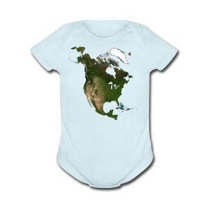 North America - Short Sleeve Baby Bodysuit