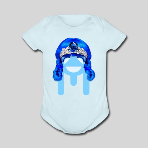 ALIENS WITH WIGS - #TeamMu - Organic Short Sleeve Baby Bodysuit