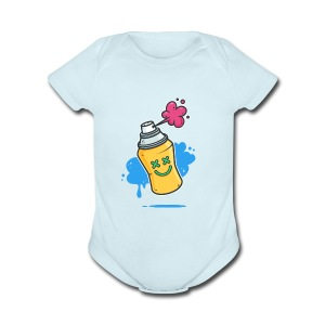 Graffiti - Short Sleeve Baby Bodysuit