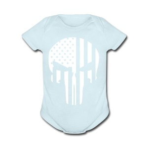 punisher - Short Sleeve Baby Bodysuit
