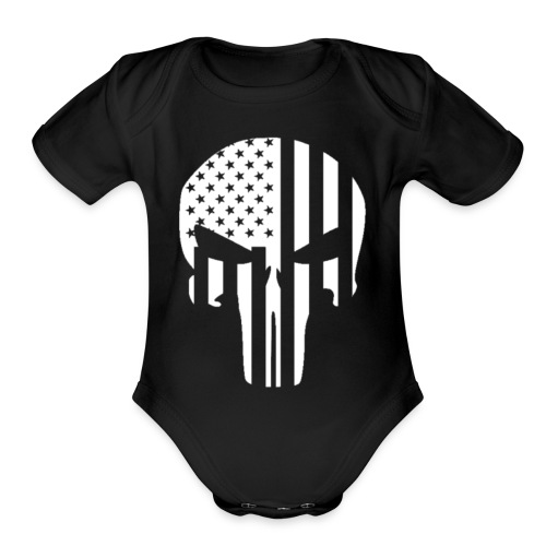 punisher - Organic Short Sleeve Baby Bodysuit