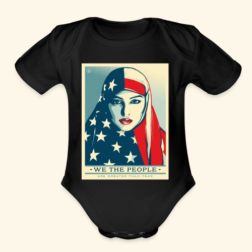 We the people are greater than fear - Organic Short Sleeve Baby Bodysuit