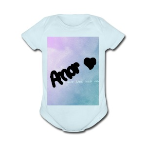 amor - Short Sleeve Baby Bodysuit