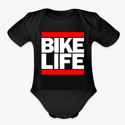 bike life - Organic Short Sleeve Baby Bodysuit