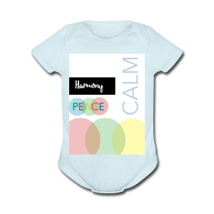 Peace - Short Sleeve Baby Bodysuit