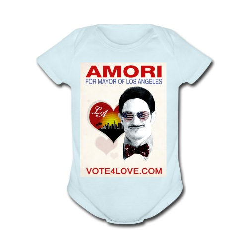 Amori for Mayor of Los Angeles eco friendly shirt - Organic Short Sleeve Baby Bodysuit