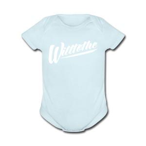 Willtothe Logo White - Short Sleeve Baby Bodysuit