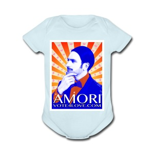 Amori_poster_1d - Short Sleeve Baby Bodysuit