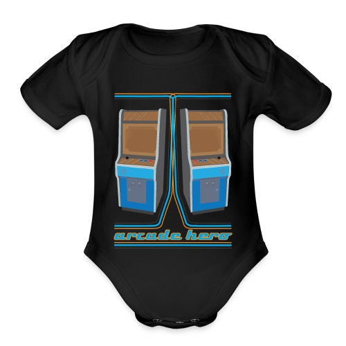 arcadehero - Organic Short Sleeve Baby Bodysuit