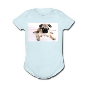 be a super pug savage merch - Short Sleeve Baby Bodysuit