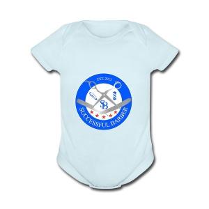 Successful Barber Seal - Short Sleeve Baby Bodysuit