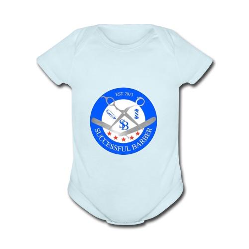 Successful Barber Seal - Organic Short Sleeve Baby Bodysuit