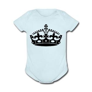 KEEP CALM CROWN - Short Sleeve Baby Bodysuit
