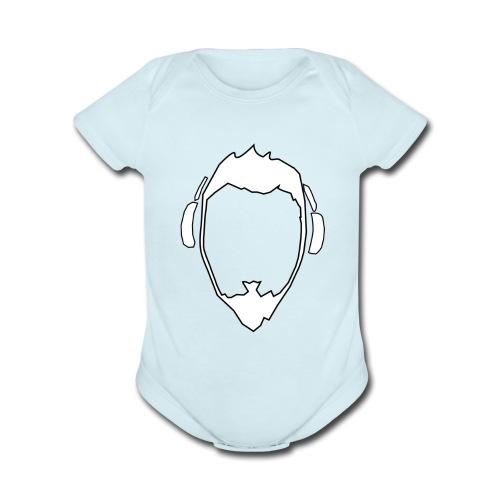 Nolic Headphones Icon - Organic Short Sleeve Baby Bodysuit