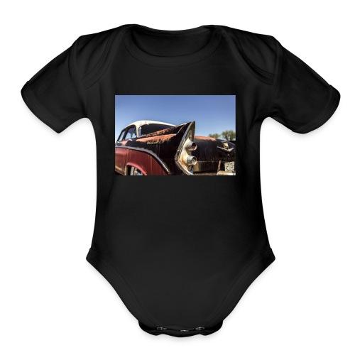 Hot rod - Organic Short Sleeve Baby Bodysuit