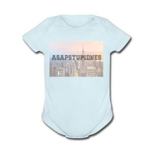 ASAPSTUPIDNES - Short Sleeve Baby Bodysuit