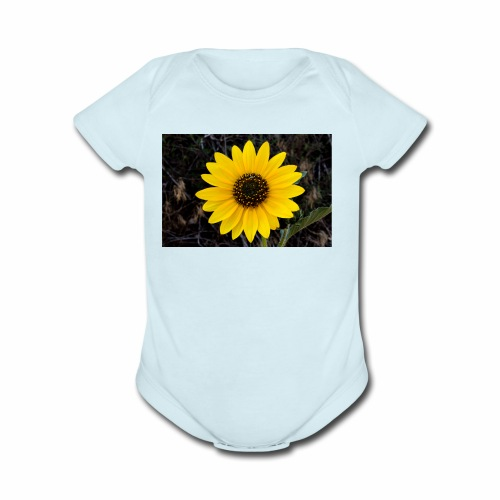 sunflower - Organic Short Sleeve Baby Bodysuit