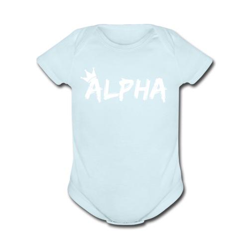 Alpha - Organic Short Sleeve Baby Bodysuit