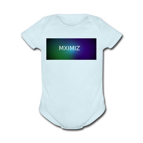 MXIMIZ youtube love - Organic Short Sleeve Baby Bodysuit