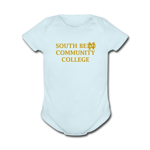 Notre Dame Community College - Organic Short Sleeve Baby Bodysuit