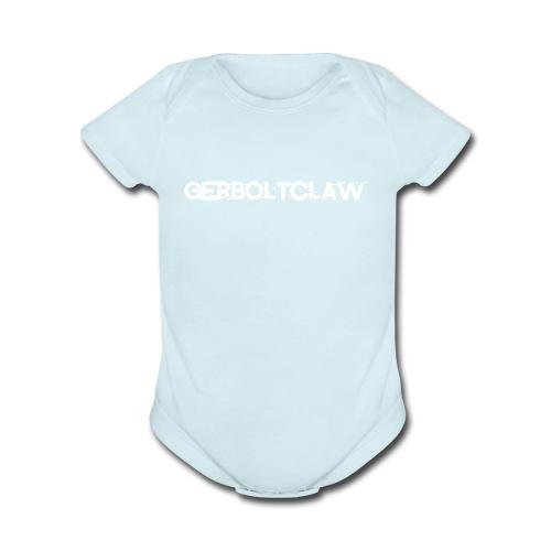 White Gerboltclaw LOGO - Organic Short Sleeve Baby Bodysuit
