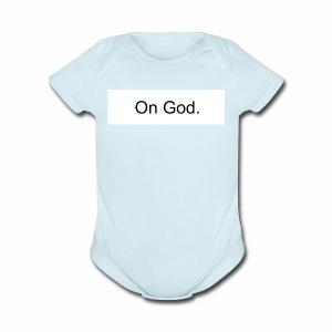 On God - Short Sleeve Baby Bodysuit