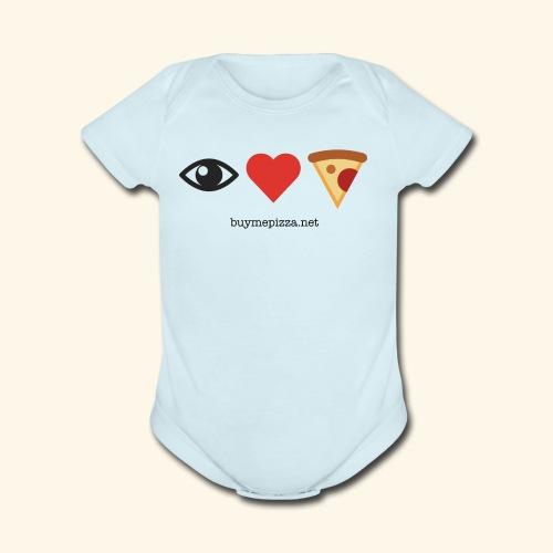 Buy Me Pizza - Organic Short Sleeve Baby Bodysuit