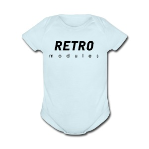 Retro Modules - sans frame - Short Sleeve Baby Bodysuit
