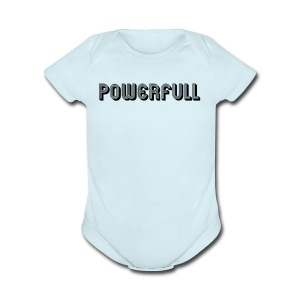 POWERFULL - Short Sleeve Baby Bodysuit